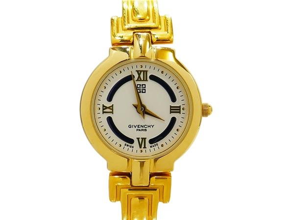 GIVENCHY ジバンシー 白文字盤 バングルタイプ 腕時計01