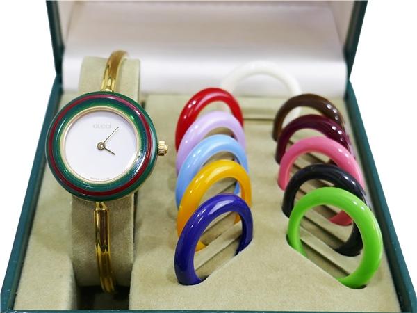 GUCCI グッチ ゴールド チェンジベゼル 腕時計 箱カード付き01