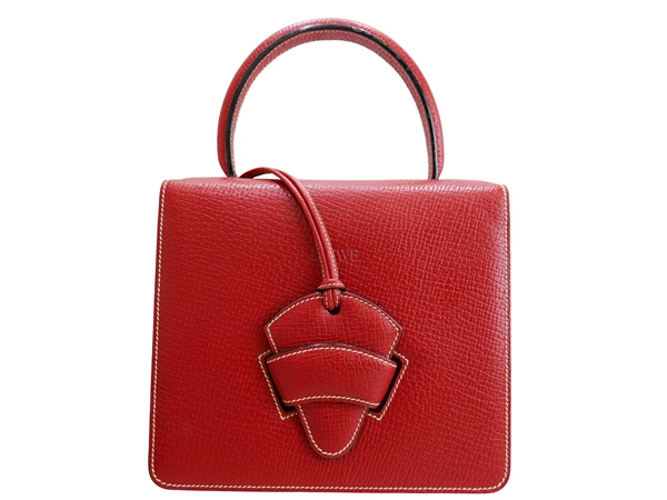 LOEWE ロエベ 赤 バルセロナ 2WAYバッグ01